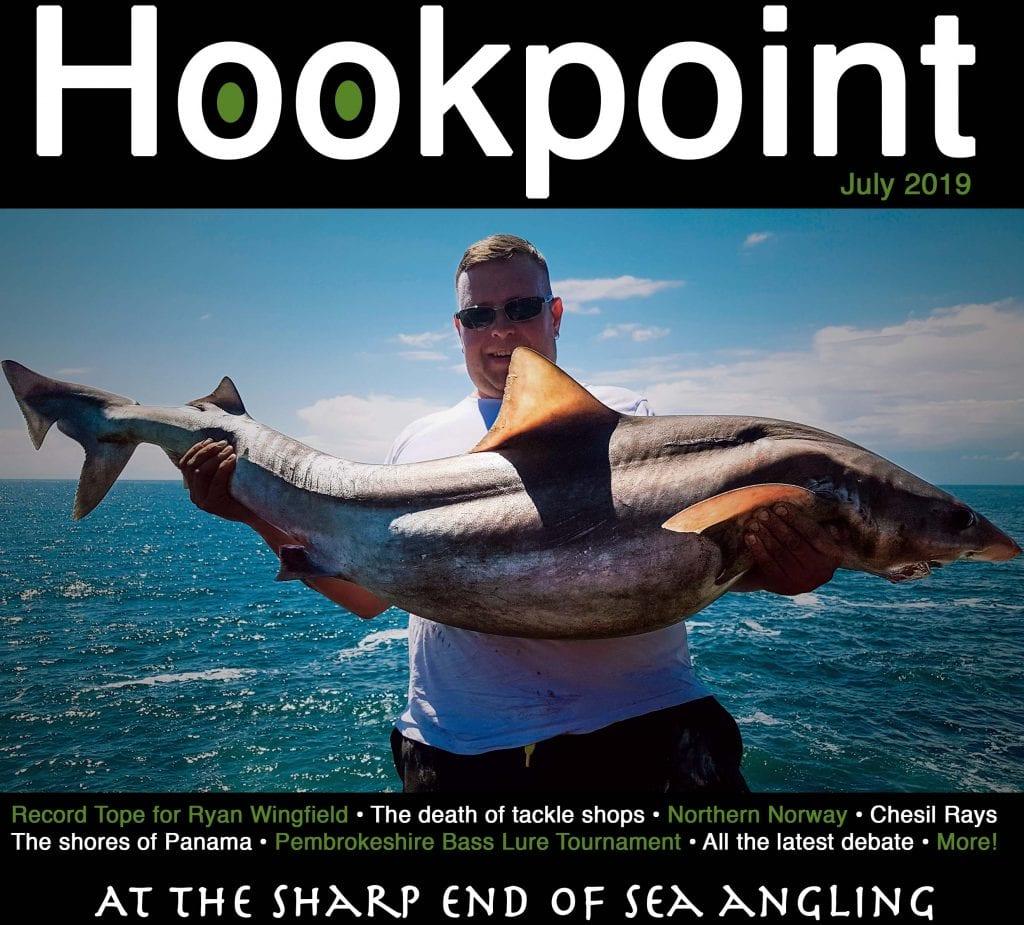 Hookpoint Fishing Magazine July record Tope Ryan Wingfield