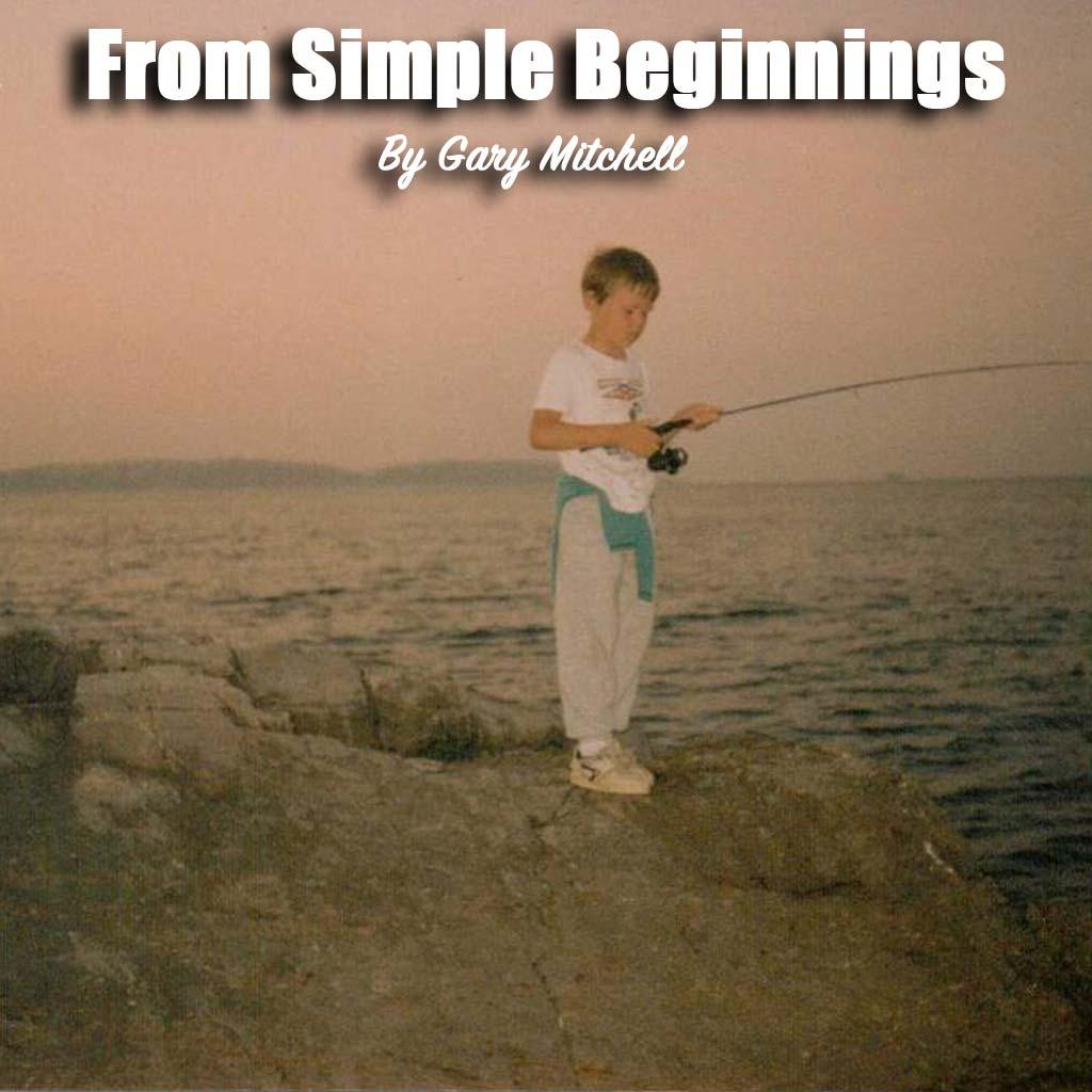 Gary fishin on the rocks as a kid