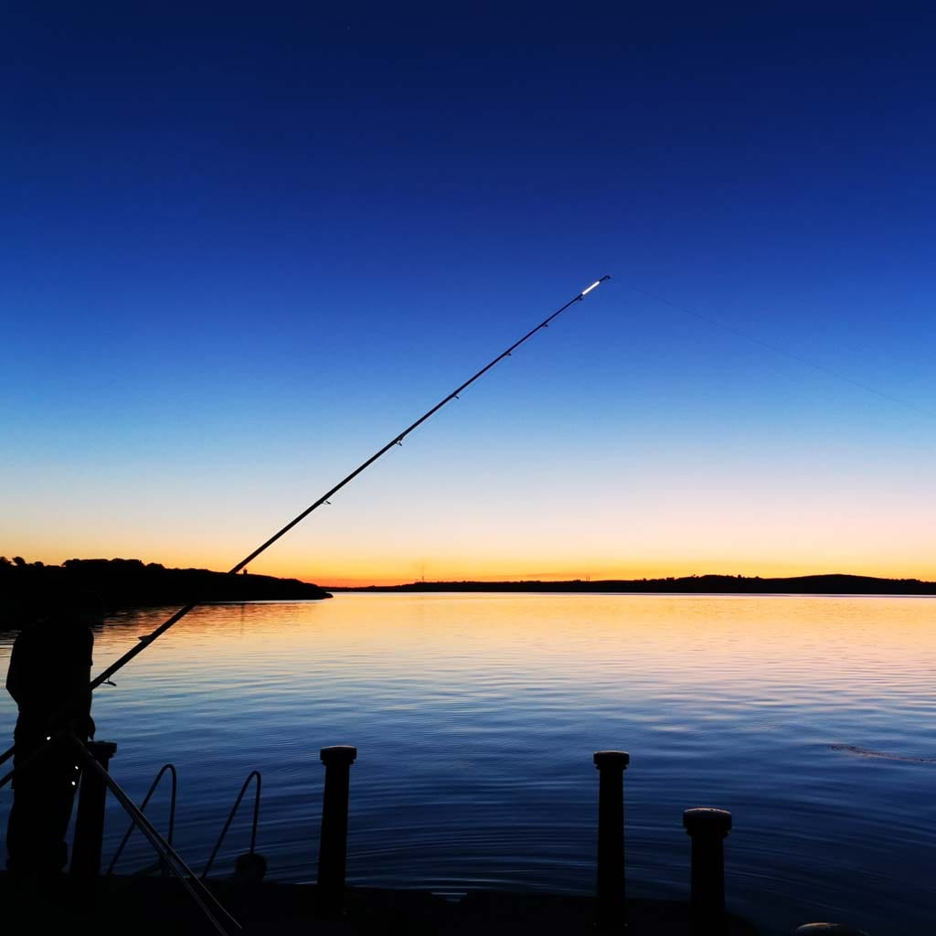 fishing the shannon at sunset