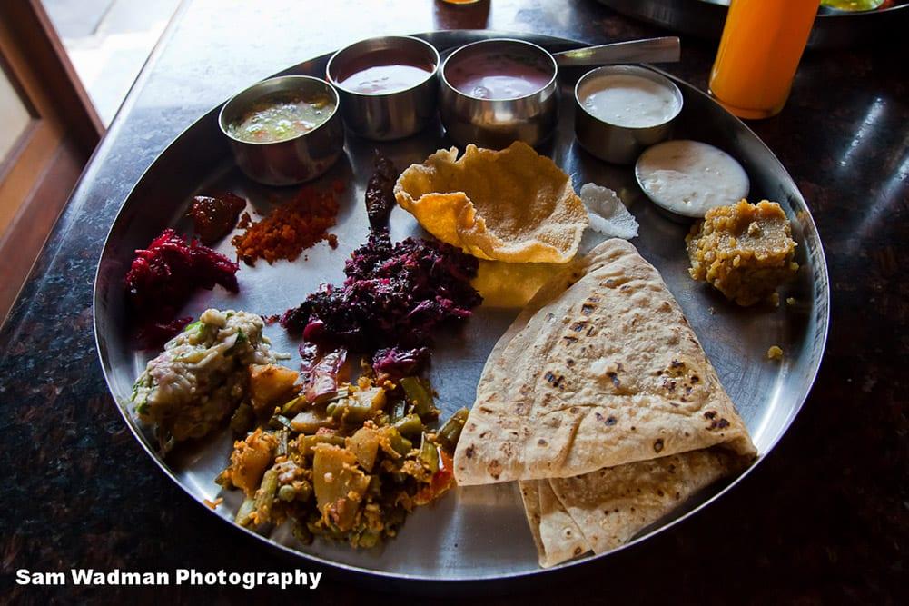 A vegetarian indian dish